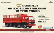 An Excellent Mileage 12 Tyre Truck