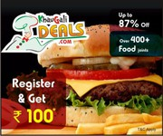 Get 87% Discount On Best Online Restaurant Deals With Rs 100 Extra