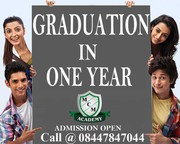 Complete Graduation Degree in One Year Call 0844-784-7044