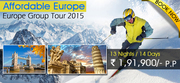 Affordable Europe Holiday Packages 2015 from Delhi India