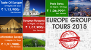 Travel Packages for Europe 2015 from Delhi India