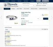 Djewels - for sale ladies ring with white gold