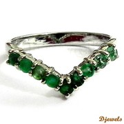 Djewels - Natural Emerald Ladies Ring