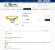 djewels - solitaire engagement ring with customer reviews