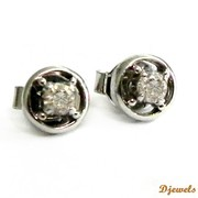 Djewels - Diamond Earrings with white gold