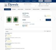 Djewels - Natural Emerald Earrings with Customer reviews