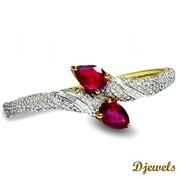 Djewels - Natural Ruby Bracelet For Wedding with Customer Reviews
