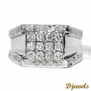 Djewels - Diamond Gents Ring with white Gold