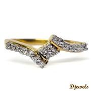 Djewels - Melina Ladies Ring in Hallmarked Gold