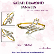 Wedding Diamond Bangle in affordable price from Djewels.org