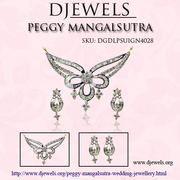 Mangalsutra in White Gold for Indian Brides