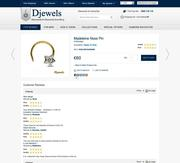 Diamond Nose Pin in 14K Hallmarked Gold with Customer Review