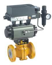 Pneucon Automation TEFLON LINED BALL VALVE WITH ROTARY ACTUATOR