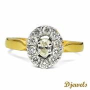 Djewels - Martha Ladies Ring in Emerald Shape