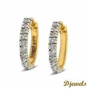 Djewels- Diamond Earring Bali with 14K Hallmared Gold