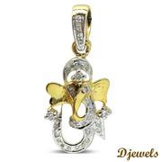 Djewels - Om Ganesh Pendant in Hallmarked Gold