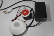 PIR sensor with wired hooter