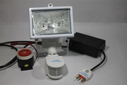 Security Light with wired Hooter