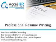 Professional Resume Writing,  CV Writing in India & Dubai