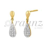 Latest Designer Gold Diamond Earings Online