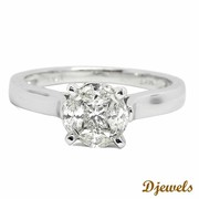 Diamond Ring Peggy in hallamrked