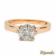 Diamond Ring Pam in hallmarked