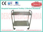 Hospital Instrument Trolley Manufacturer   DESCO
