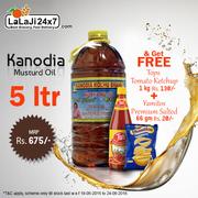 Buy Kanodia Oil & Get Tops Tomato Ketchup + Get Yamitos Salted Free