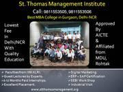 St. Thomas Management Institute,  Gurgaon