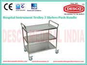 Hospital Instrument Trolley Manufacturer in Delhi | DESCO