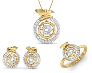 Buy Aditri Daily Wear Diamond Pendant Set Online - Jewelslane