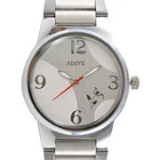 Adine Admirable Silver Round Dial Analog Display Watch