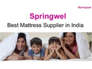 Premier Mattress Supplier in Delhi - Springwel