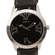 Adine Black Roman Hour Markers Watch Strap colour Black