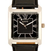 Xclusiveoffer - Adine Black Square Dial Watch Designed to Fit Any Casu