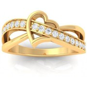 Xclusiveoffer Valentine collection Real Gold Diamon Rings 22k