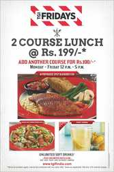 Lunch deals Delhi,  Lunch offers Delhi NCR - TGIF India