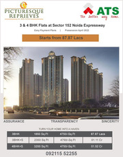 ATS Picturesque Reprieves Offers 3/4 BHK Flats Sector 152 Noida