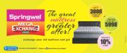 Mattresses for Sale,  Mega Exchange Offer at Springwel