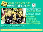 childrens day workshop at raghuvansham school of modern art
