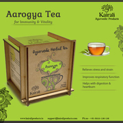 Kairali's Aarogya Herbal Tea with vitamins and anti-oxidants