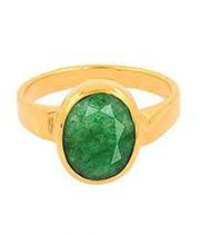 Panchdhatu 3.5 to 10.25 Ratti Emerald Ring (Panna Ring)