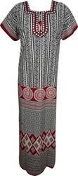 Indiatrendzs Women's Cotton Nightwear Nighty  (Multicolor)