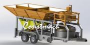 Mobile mini concrete plant Constmach Mobicom 30 m3 / h