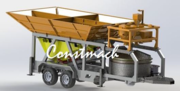 Mobile mini concrete plant Constmach Mobicom 60 m3 / h