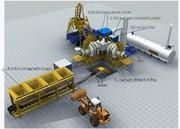 Stationary asphalt plant Sinosun QLB40 - 40 t / h.