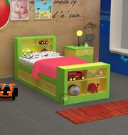 Bassinet Yellow Green Single Bed for Kids