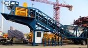 Mobile concrete plant YHZS