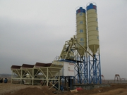 Stationary concrete plant,  Skip feed