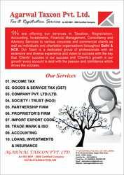 CA services GST registration,  company registration etc